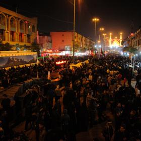 سوگواره سوم-عکس 118-حسین استوار -پیاده روی اربعین از نجف تا کربلا