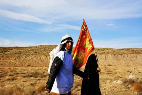 سوگواره سوم-عکس 12-سید محمد جواد ضمیری هدایت زاده-پیاده روی اربعین از نجف تا کربلا