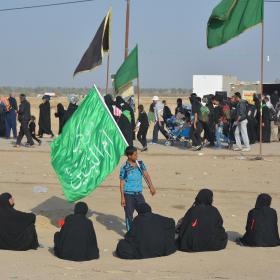 سوگواره پنجم-عکس 73-مهرداد  حسنی-پیاده روی اربعین از نجف تا کربلا