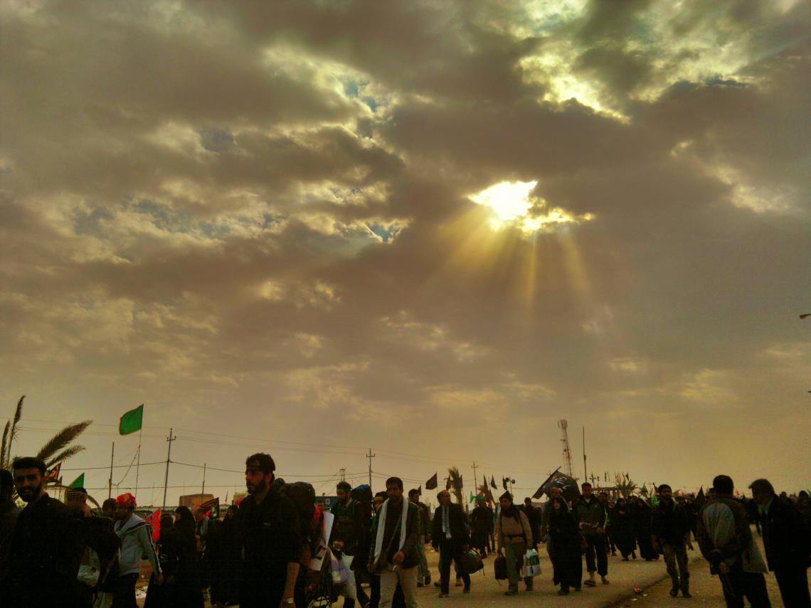 سوگواره سوم-عکس 7-علیرضا رحمانی پور-پیاده روی اربعین از نجف تا کربلا