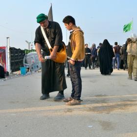 سوگواره چهارم-عکس 74-سید محمد جواد صدری-پیاده روی اربعین از نجف تا کربلا