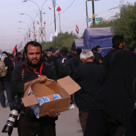 سوگواره پنجم-عکس 10-سعید ابراهیمی نهزمی -پیاده روی اربعین از نجف تا کربلا
