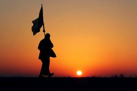 سوگواره سوم-عکس 29-حمید عابدی-پیاده روی اربعین از نجف تا کربلا