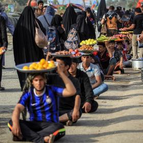 سوگواره پنجم-عکس 58-محمد حسن صلواتی-پیاده روی اربعین از نجف تا کربلا