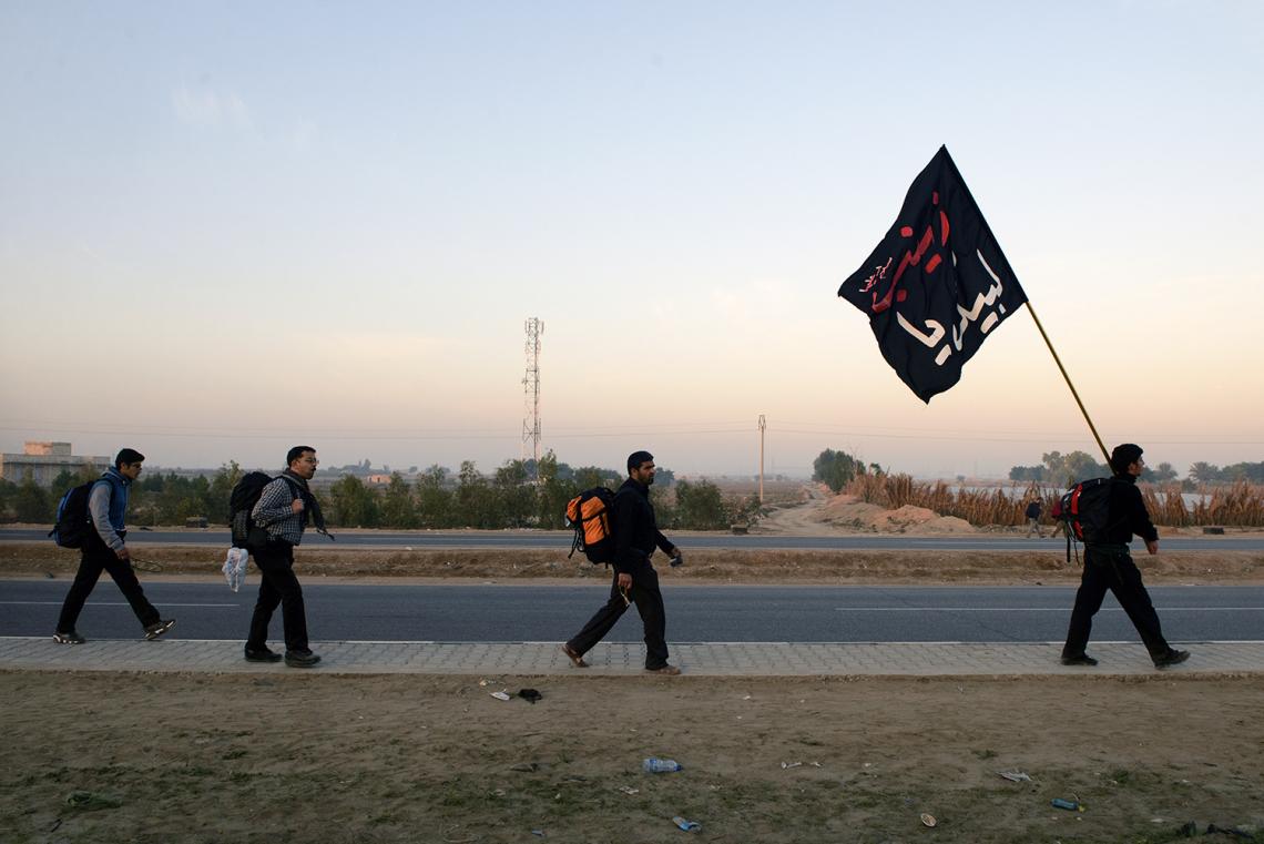 سوگواره چهارم-عکس 92-علی دهقان-پیاده روی اربعین از نجف تا کربلا