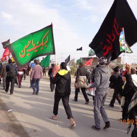 سوگواره سوم-عکس 12-علی مقنی-پیاده روی اربعین از نجف تا کربلا