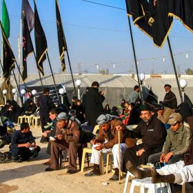 سوگواره چهارم-عکس 17-مجید حجتی-پیاده روی اربعین از نجف تا کربلا